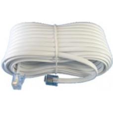 Телефонный удлинитель линейный  2м белый /100-002