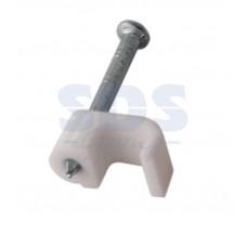 Крепеж кабеля  4*2мм (сетевой) (уп.50шт) плоская (07-4204)