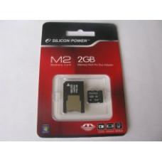 Карта памяти MS-Micro (M2) 2 Gb Silicon Power (адаптер)