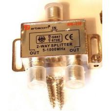 Разветвитель на 2 TV  499-277-2 (5-1000 MHz) металл АРА-219