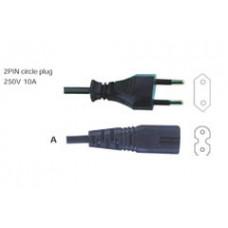 Шнур сетевой для радиоап-ры и бритв 1,8м сеч.2*0,5мм* (11-1101)