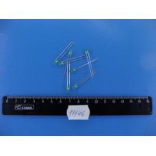Светодиоды  3мм зеленые непрозрачный RL44013B