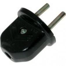 Вилка сетевая карболит (черная) Беларусь (В6-006)/ В6-001(Ливны)