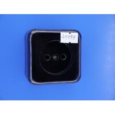 Розетка О/У РА 10-007 квадр. черная с пруж.(керамика) (Ливны)