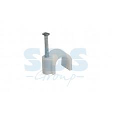Крепеж кабеля  9мм (антенный) (50 шт.) круглая (07-4009)