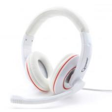Гарнитура Gembird MHS-780 с микрофоном, белый, рег. громкости