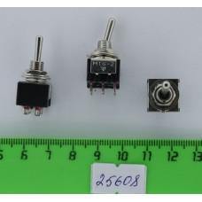 Тумблер мини 6pin 2 полож. 6А/125V (MTS-202) ON-ON (CY05 J2)