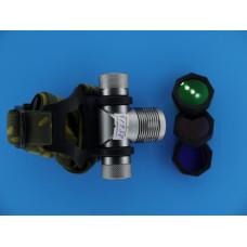 Фонарь головной  1 SMD  ярк,аккум.,8000W HL-K9 смен.стекла, сеть