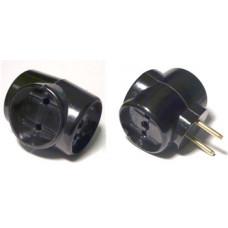 Тройник сетевой универсал. черный карболит РВ-6-060 (уп.10шт)