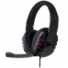 Гарнитура Gembird MHS-782 с микрофоном, черный, рег. громкости