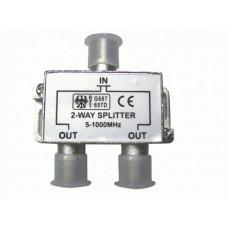 Разветвитель на 2 TV  5-1000 MHz металл (05-6021)/АРА-214
