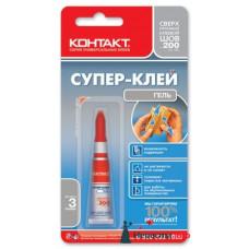 """Клей """"Контакт"""" гель 3гр (уп.12 шт.) /кор.288шт"""