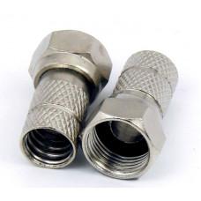 Разъем F под RG- 6 с защитой от влаги (медь-никель)  АРР-306-МВ3/05-4005