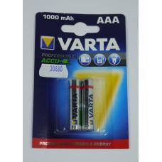 Аккум. 1000 mAh VARTA  R03  AAA Bl-2