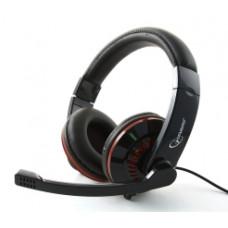 Гарнитура Gembird MHS-783 с микрофоном, черный, рег. громкости