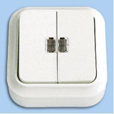 Выкл. О/У 2-кл. А510-215 с подсветкой / 80шт