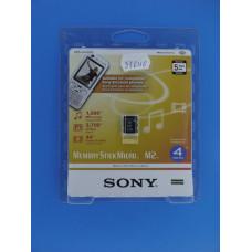 Карта памяти MS-Micro (M2) 4 Gb Sony (без адаптера)