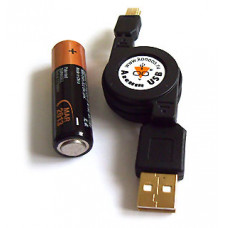 Кабель USB 2,0  рулетка 0,75м AM/mini B 5P Konoos gold KCR-USB2-AM5P