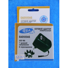 Блок питания Eleca 0,5AS  500mA (1,5-12V) 7 ур.напр. 8 насадок