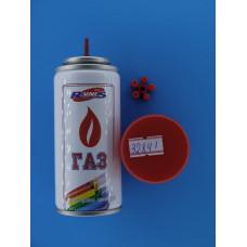 Газ для зажигалок с насадками 140 мл (Омск) белый мет.бал.(1-007) \36