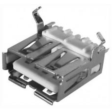 """Гнездо USB """"А"""" мет. на корп ТИП-2 (XJY-USB-04) (05-0004) с огранич.,п"""