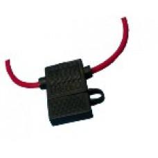 Держатель предохранителя прямоугольный + шнур (FD-2840) SX:32V/16-0421
