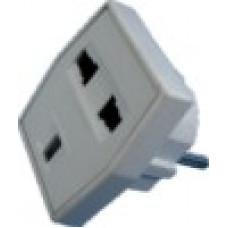 Сетевой переходник 3 контакта (15 видов вилок) 16А (25шт)квадр/11-1011