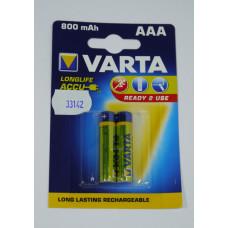 Аккум.  800 mAh Varta  AAA R03  Bl-2/Bl-4 (уп. 20)