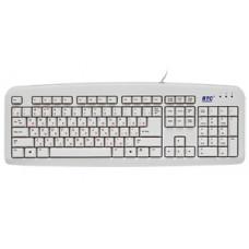Клавиатура BTC-5211A-BL, PS/2,черная,L-обр.Enter