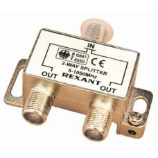 Разветвитель на 2 TV  5-1000 MHz металл REXANT(2513) (05-6001)
