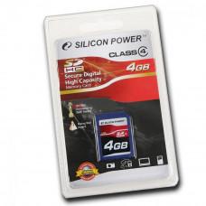 Карта памяти SDHC 16 Gb Silicon Power класс 4