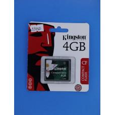 Карта памяти Compact Flash 4 Gb Kingston
