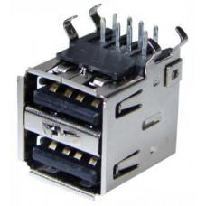 """Гнездо USB """"А"""" х 2 мет. на корп (XJY-USB-03) (05-0003)"""