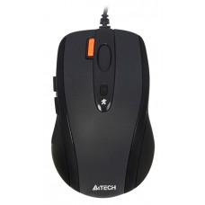 Мышь A4-N-70FX черная, USB,V-Track,на любой поверхн., 1600dpi