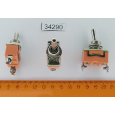Тумблер 2 полож. Красный 2pin KN3C-101 (C-505) ON-OFF /E-TEN1021