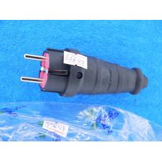 Вилка для удлин. на шнур FAR с з/к каучук 16А IP44 F48