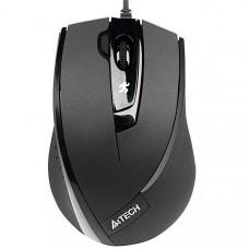 Мышь A4-N-600X-1 черная, USB,V-Track,на любой поверхн., 1600dpi