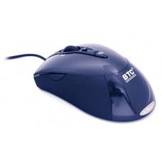 Мышь BTC M877U лазерная USB, синяя, 800dpi/1600dpi