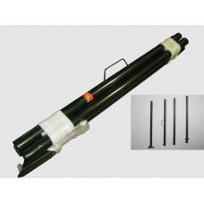 Мачта антенная усиленная 4,5м (с ручкой) черная (высота 4,5м, d=51мм)