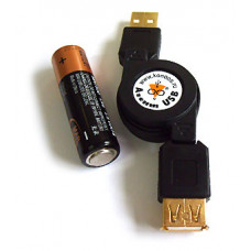 Кабель USB 2,0  рулетка 0,75м AM/AF (шт-гн) Konoos KSR-USB2-AMAF