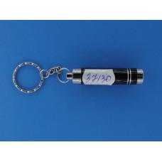 Фонарик брелок ручной  (1 диод +линза) кольцо (3*AG13) №809