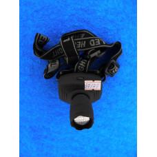 Фонарь головной  1 диод SMD 5050 (ярк+линза) zoom XQ-6611,резин./YT820
