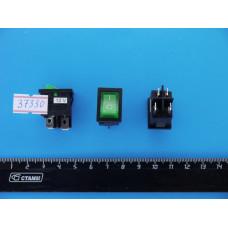 Перек. сет.с подсв. 15мм SC-778-4c (Зеленый) 12V 4pin (ON-OFF)
