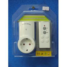 Дистанционно управляемый выключатель 1 розетка + ПДУ (ВН9938-1)