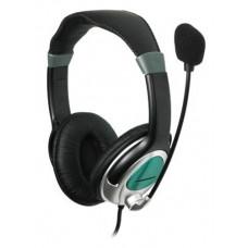 Гарнитура Gembird MHS-290 с микрофоном, черный, рег. громкости