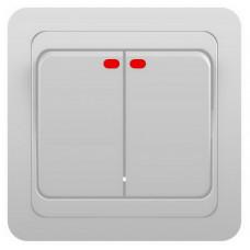 Выкл. С/У 2-кл. 10А Classico белый с подсв.(2123)