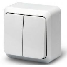 Выкл. О/У 2-кл. 10А BOLLETO белый (7023)