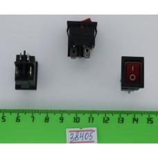 Перек. сет.с подсв. 15мм SC-778-4c (Красный) 12V 4pin (ON-OFF)