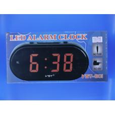 Часы электрон. настольные Элегия VST-801-1+б/п(красные цифры)