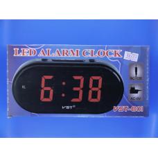 Часы электрон. настольные Элегия VST-801-5+б/п (синие цифры) (DC002)